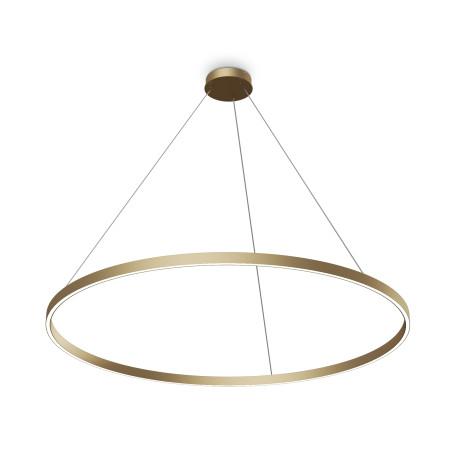Подвесной светодиодный светильник Maytoni Rim MOD058PL-L65BS4K, LED 81W 4000K 4800lm CRI80, матовое золото, матовое золото с белым, металл, металл с пластиком