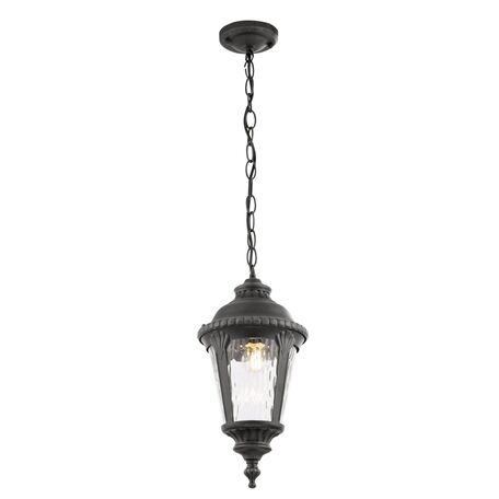 Подвесной светильник Maytoni Goiri O029PL-01GN, IP44, 1xE27x60W, черный, прозрачный, металл, металл со стеклом
