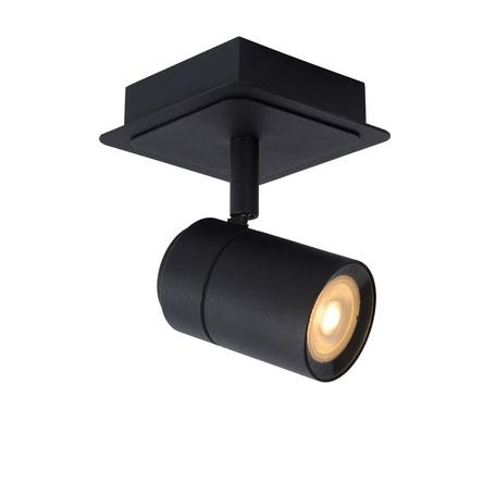 Потолочный светильник с регулировкой направления света Lucide Lennert 26958/05/30, IP44, 1xGU10x5W, черный, металл