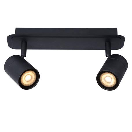 Потолочный светильник с регулировкой направления света Lucide Lennert 26958/10/30, IP44, 2xGU10x5W, черный, металл