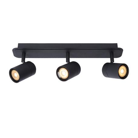 Потолочный светильник с регулировкой направления света Lucide Lennert 26958/15/30, IP44, 3xGU10x5W, черный, металл