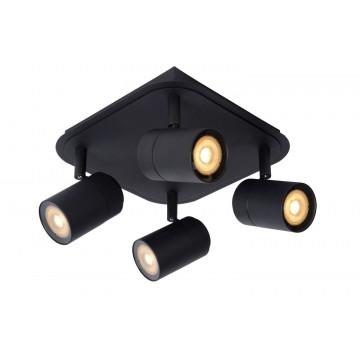 Потолочный светильник с регулировкой направления света Lucide Lennert 26958/20/30, IP44, 4xGU10x5W, черный, металл