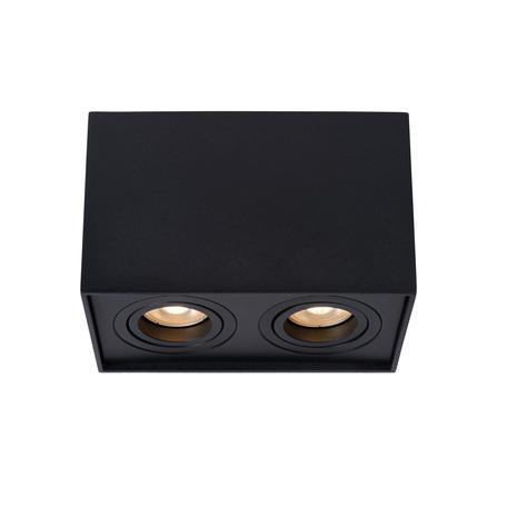 Потолочный светильник Lucide Tube 22953/02/30, 2xGU10x50W, черный, металл
