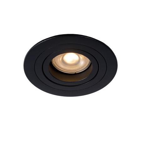 Встраиваемый светильник Lucide Tube 22954/01/30, 1xGU10x50W, черный, металл