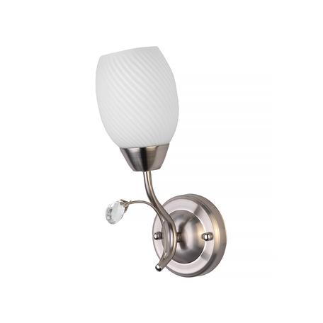 Бра Toplight Paula TL3550B-01SN, 1xE27x60W, никель, белый, металл, стекло