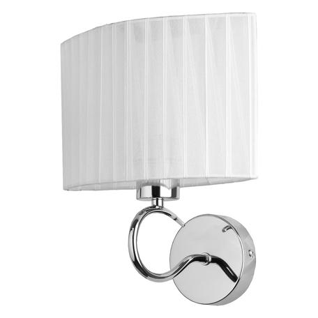 Бра Toplight Jeanne TL3650B-01CH, 1xE27x40W, хром, белый, металл, текстиль