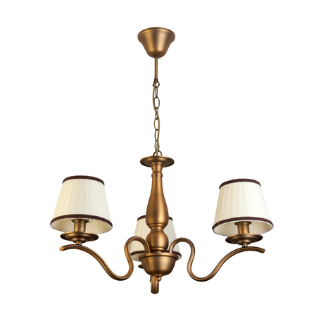 Подвесная люстра Toplight Daniela TL5650D-03BS, 3xE14x40W, бронза, белый, металл, текстиль