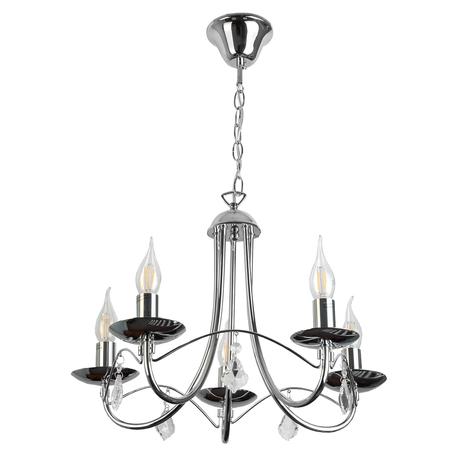 Подвесная люстра Toplight Lily TL6020D-05CH, 5xE14x40W, хром, прозрачный, металл, стекло