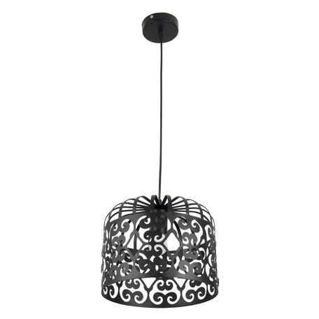 Подвесной светильник Toplight Charlotte TL4010D-01BL, 1xE27x60W, черный, металл