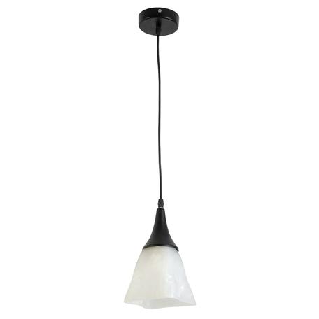 Подвесной светильник Toplight Jillian TL4410D-01BL, 1xE27x60W, черный, белый, металл, стекло