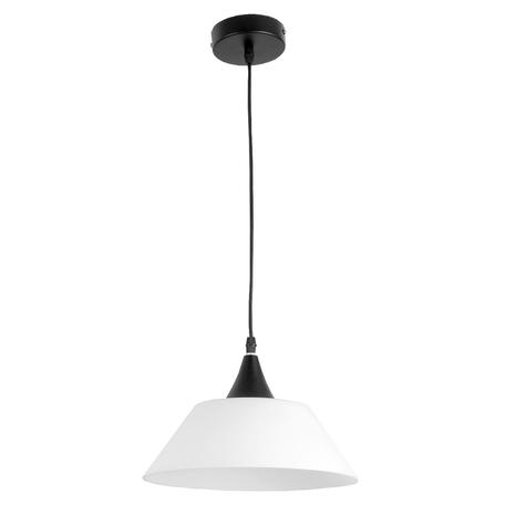 Подвесной светильник Toplight Mabel TL4430D-01BL, 1xE27x60W, черный, белый, металл, стекло