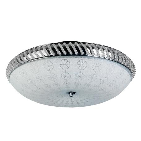 Потолочная люстра Toplight Candis TL1472Y-05GC, 5xE14x40W, хром, белый, металл, металл со стеклом, хрусталь