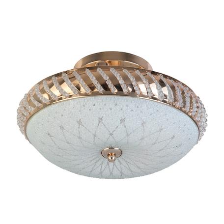Потолочная люстра Toplight Loreen TL1490Y-03GC, 3xE14x40W, золото, белый, металл, металл со стеклом, хрусталь