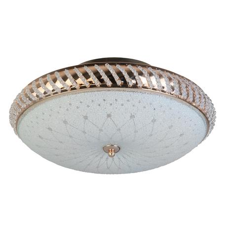 Потолочная люстра Toplight Loreen TL1491Y-04GC, 4xE14x40W, золото, белый, металл, металл со стеклом, хрусталь