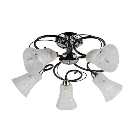 Потолочная люстра Toplight Linda TL2760X-05WC, 5xE14x40W, венге с хромом, белый, металл, стекло