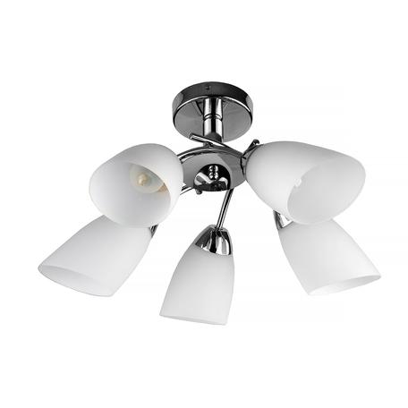 Потолочная люстра Toplight Carmel TL3600X-05CH, 5xE27x40W, хром, белый, металл, стекло