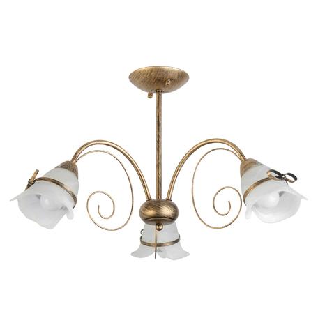 Потолочная люстра Toplight Bridget TL3620X-03, 3xE14x60W, матовое золото, белый, металл, стекло