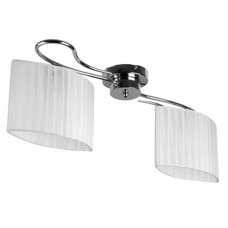 Потолочная люстра Toplight Jeanne TL3650X-02CH, 2xE27x40W, хром, белый, металл, текстиль