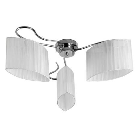 Потолочная люстра Toplight Jeanne TL3650X-03CH, 3xE27x40W, хром, белый, металл, текстиль