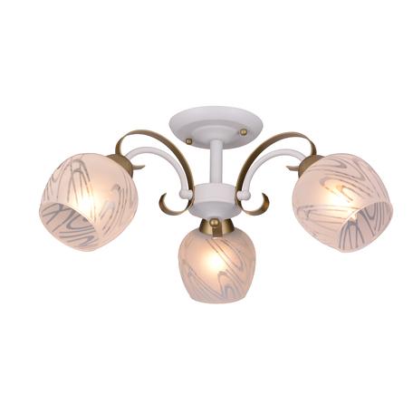 Потолочная люстра Toplight Samantha TL3690X-03WG, 3xE27x40W, белый с золотом, белый, металл, стекло