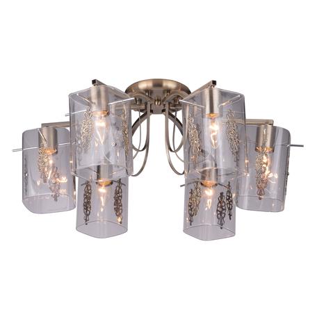 Потолочная люстра Toplight Rosaline TL3710X-06AB, 6xE27x40W, бронза, прозрачный, металл, стекло