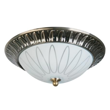 Потолочная люстра Toplight Paulina TL5050Y-02AB, 2xE27x40W, бронза, белый, металл, стекло