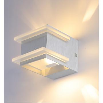 Настенный светильник Crystal Lux CLT 421W AL 1400/421, 1xG9x40W, алюминий, прозрачный, металл, стекло