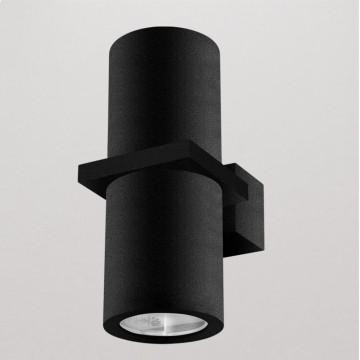 Настенный светильник Crystal Lux CLT 021W BL 1401/403, IP54, 2xGU10x35W, черный, металл