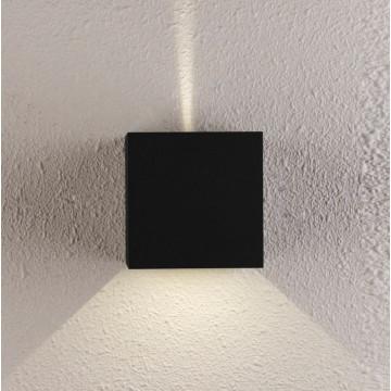 Настенный светодиодный светильник Crystal Lux CLT 520W BL 1401/429, LED 6W 4000K 407lm CRI>80, черный, металл
