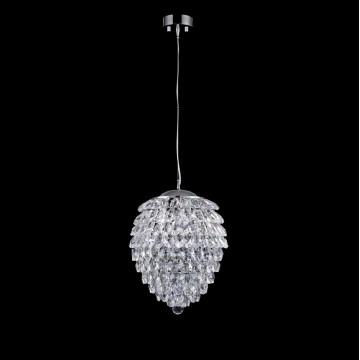 Подвесная люстра Crystal Lux CHARME SP2+2 LED CHROME/TRANSPARENT 1370/204, 2xG9x40W + LED 6W, хром, прозрачный, металл, хрусталь