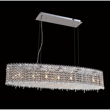 Подвесная люстра Crystal Lux ETERNIDAT SP7 CHROME 1660/207, 7xG9x60W, хром, прозрачный, металл, хрусталь