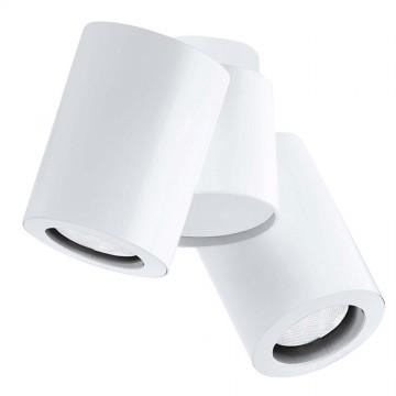 Потолочный светильник с регулировкой направления света Crystal Lux CLT 133C2 1400/115, 2xGU10x50W, белый, металл