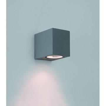 Настенный светильник Astro Chios 1310007 (8195), IP44, 1xGU10x6W, прозрачный, серый, металл, стекло