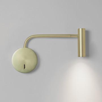 Настенный светодиодный светильник с регулировкой направления света Astro Enna 1058105 (8420), LED 4,7W 2700K 104.98lm CRI80, матовое золото, металл