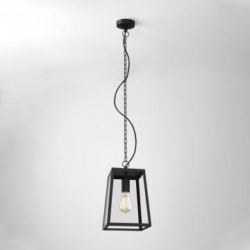 Подвесной светильник Astro Calvi 1306013 (8314), IP23, 1xE27x60W, черный, прозрачный, металл, стекло