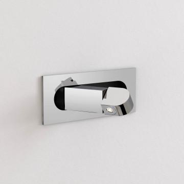Встраиваемый настенный светодиодный светильник с регулировкой направления света Astro Digit LED 1323010 (8108) 2700K (теплый), хром, металл