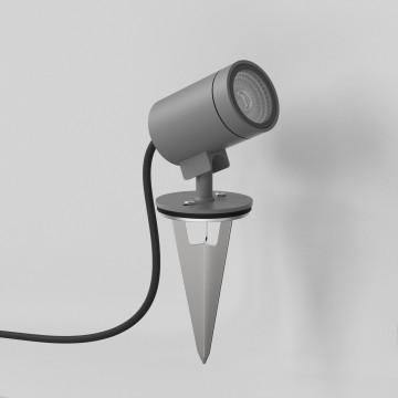Светодиодный прожектор с колышком Astro Bayville 1401010 (8311), IP65, LED 5W 3000K 465lm CRI80, серый, металл