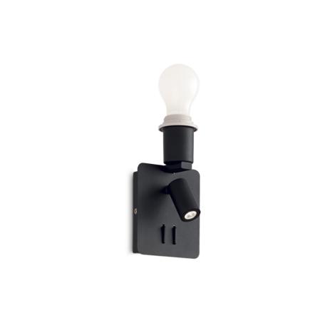 Светильник Ideal Lux Gea MAP2 239545, 1xE27x60W + LED 3W, черный, металл