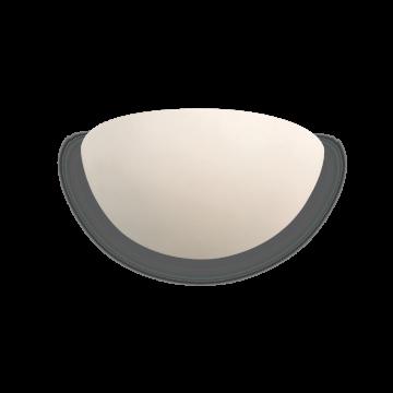 Настенный светильник Ideal Lux GIN AP1 105741, 1xE14x40W, белый, под покраску, гипс