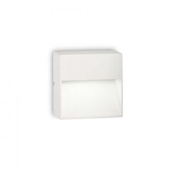 Настенный светильник Ideal Lux DOWN AP1 BIANCO 115382, IP44, 1xG9x28W, белый, металл, металл с пластиком, пластик