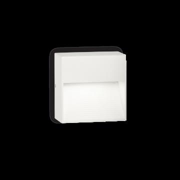 Настенный светильник Ideal Lux DOWN AP1 BIANCO 115382, IP44, 1xG9x28W, белый, металл, пластик