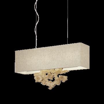 Подвесной светильник Ideal Lux PETER SP5 104294, 5xE14x40W, коричневый, бежевый, пластик, текстиль