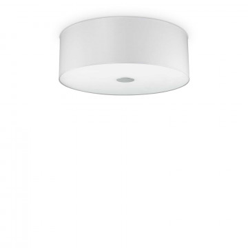 Потолочный светильник Ideal Lux WOODY PL4 BIANCO 103266, 4xE27x60W, белый, металл, пластик, стекло