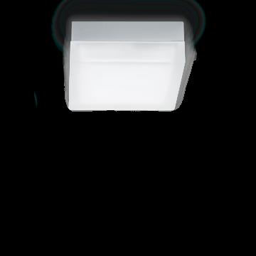 Потолочный светильник Ideal Lux IRIS PL1 D19 104539, 1xGX53x15W, хром, белый, металл, стекло