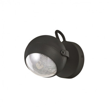 Потолочный светильник с регулировкой направления света Ideal Lux ZENITH AP1 NERO 108360, IP44, 1xGU10x11W, черный, металл, пластик