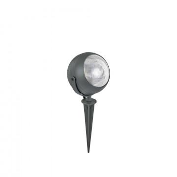 Прожектор Ideal Lux ZENITH PT1 SMALL ANTRACITE 108407, IP65, 1xGU10x11W, темно-серый, металл, металл с пластиком, пластик