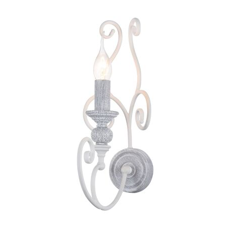 Бра Maytoni Karina ARM631-WL-01-W, 1xE14x60W, серый с белым, металл, ковка