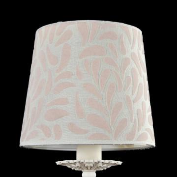 Бра Maytoni Classic Elegant Emilia ARM737-WL-01-W, 1xE14x40W, белый, бежевый, металл, текстиль - миниатюра 5