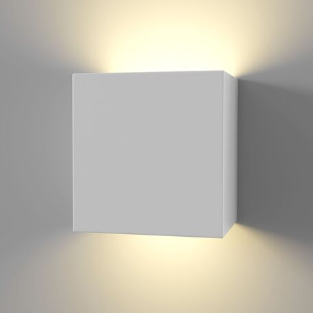 Настенный светодиодный светильник Maytoni Parma C155-WL-02-3W-W, LED 12W 3000K 580lm CRI80, белый, под покраску, гипс