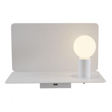 Настенный светильник с полкой Maytoni Rack C182-TL-01-W, 1xE27x60W, белый, металл